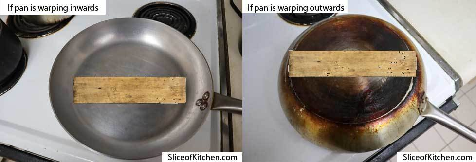 How to Unwarp a Pan using a Piece of Wood
