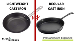 Lightweight Cast Iron Cookware vs Regular Cast Iron- Which is Better?
