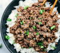 Korean Ground Beef and Rice Bowls Recipe